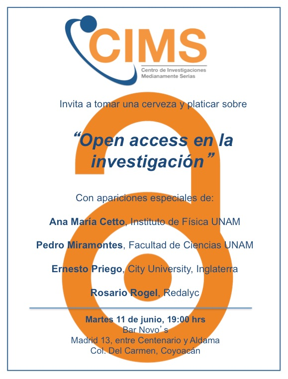 Open Access en la Investigación, Bar Novo's, Mexico DF 11 de Junio 2013, 7pm