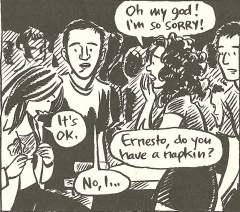 That's me in a panel from Jessica Abel's graphic novel La Perdida (2001-2006)