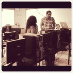 During the Blogging for Academics Workshop at UNAM, 2012