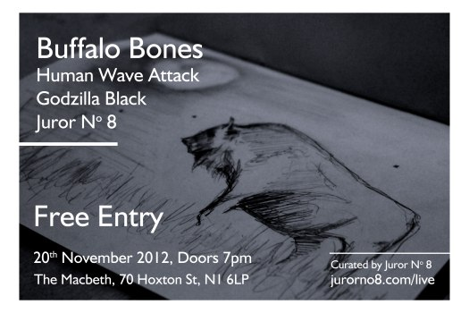 free event at The Macbeth in Hoxton on 20 November, 2012