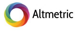Altmetric banner
