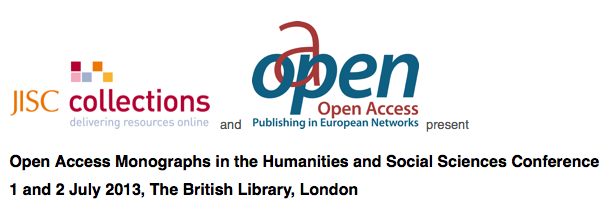 Open Access Monographs in the Humanities and Social Sciences Conference