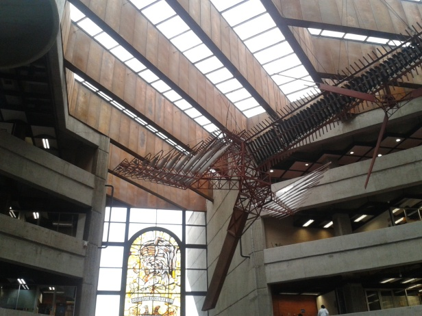 Inside the Biblioteca Nacional, Instituto de Investigaciones Bibliográficas, UNAM, Méxic