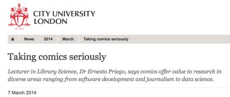 Taking Comics Seriously