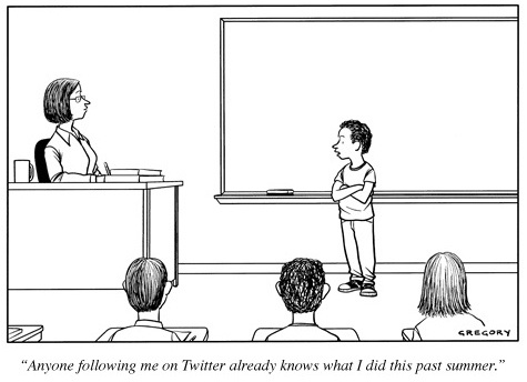 Cartoon by Gregory via the New Yorker