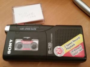 m-430 micro-cassette tape recorder - will eisner tape