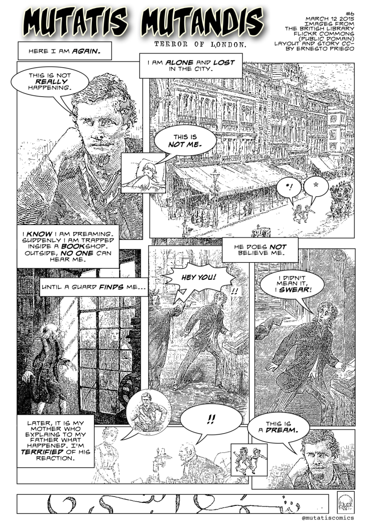 Mutatis Mutandis #6: Terror of London. Images from the British Library Flickr Commons (Public Domain). Layout and story CC-BY Ernesto Priego. Click on image to enlarge.