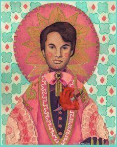 """""""Sagrado Corazón de Puñal"""" Ilustración por: Medusczka Técnica: Pintura acrílica Serie: El Mujercito Charro 2013 ©Medusczka"""