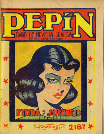 Cover of an issue of Mexican comic Pepín ('a graphic novels journal'), 1936-1954