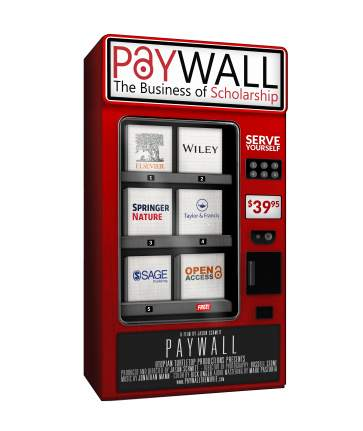 Paywall documentary film promotional poster