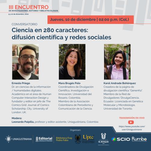 """""""Ciencia en 280 caracteres: difusión científica y redes sociales"""""""
