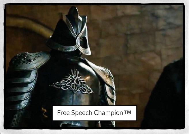 free speech chamption trading card